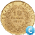 10 Francs Coin Gold Value EUR in Real Time