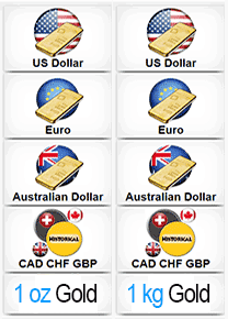 More Currencies of Gold Spot Price in Oz and Kg - Streaming Real time Charts